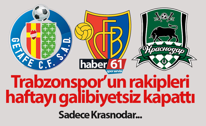 Trabzonspor'un rakipleri haftayı galibiyetsiz kapattı
