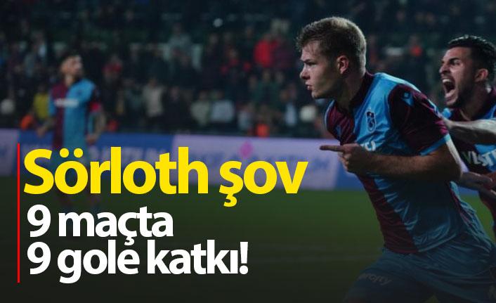Sörloth 9 maçta 9 gole katkı yaptı
