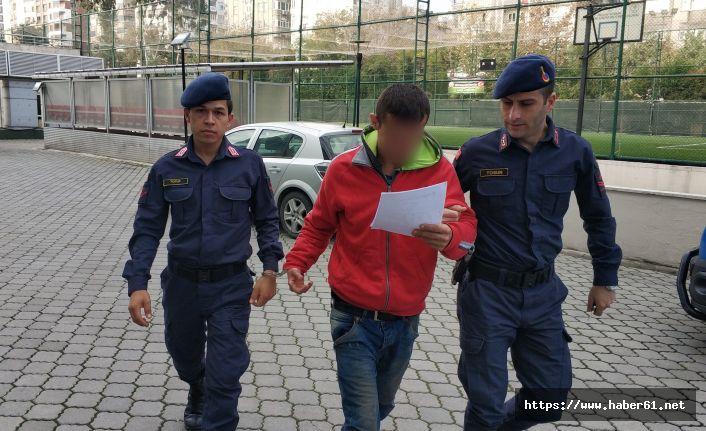 Hırsızlık yaptığı iddia edilen genç yakalandı