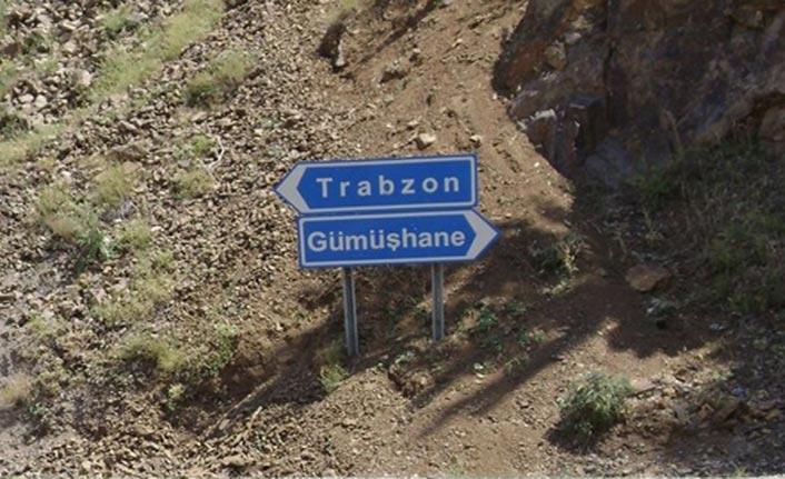 Trabzon Gümüşhane yolunda çalışma - Karayolları uyardı