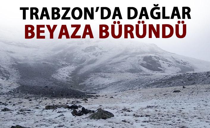 Trabzon'da dağlar beyaza büründü