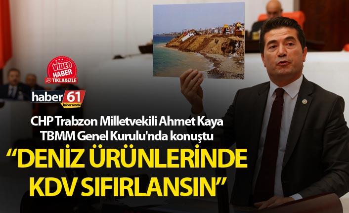 """Ahmet Kaya: """"Deniz ürünlerinde KDV sıfırlansın"""""""
