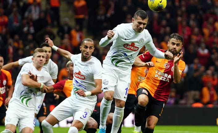 Galatasaray Rize'yi geçti
