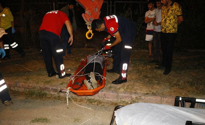 Yük trenin çarptığı kişi ağır yaralandı