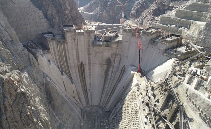 Yusufeli Barajı'nda rekor geldi