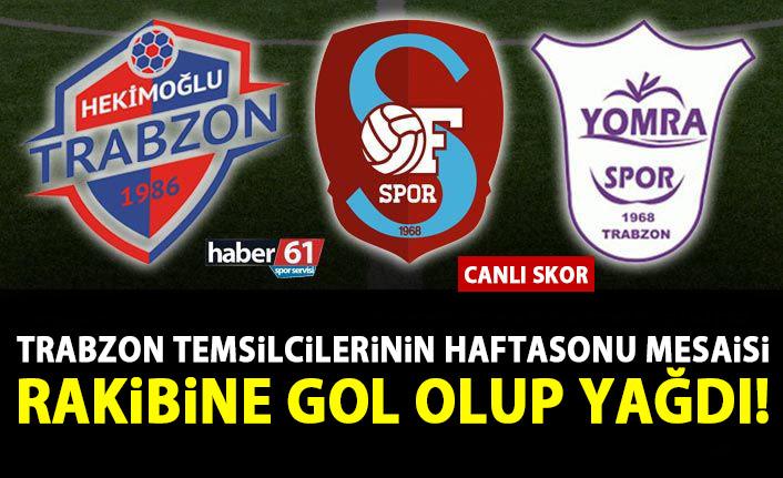 Trabzon temsilcileri Hekimoğlu Trabzon, Ofspor ve Yomraspor'un haftasonu mesaisi