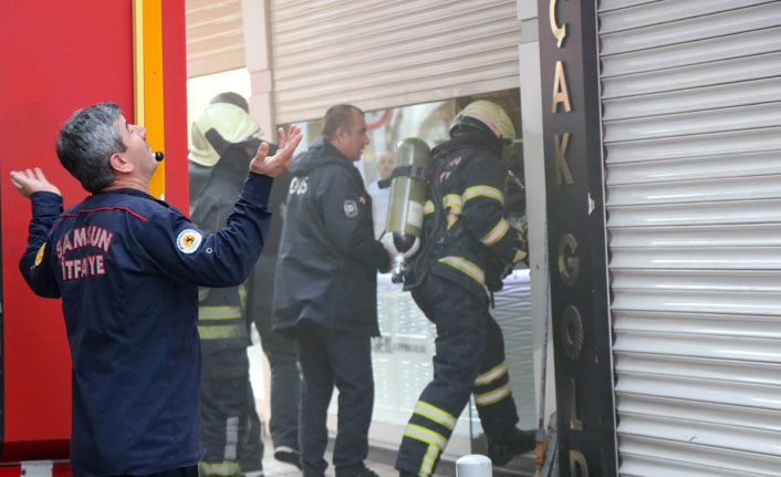 Samsun'da yangın paniği