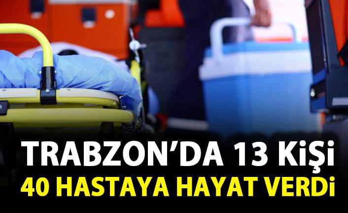 Trabzon'da 13 kişi 40 kişiye hayat verdi!