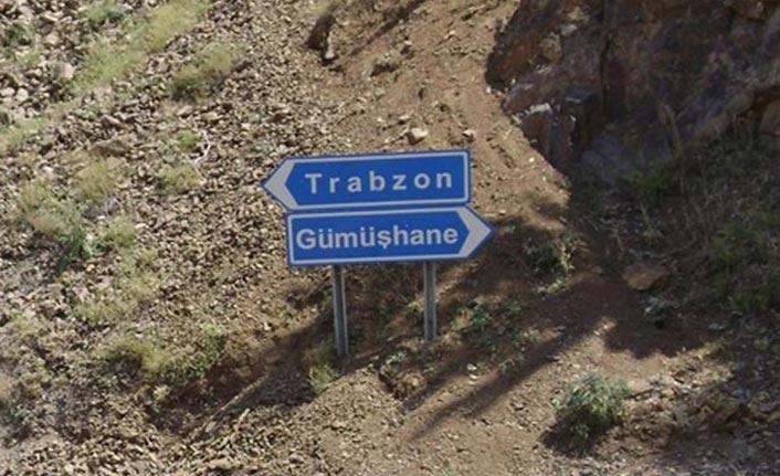 Karayolları uyardı - Trabzon Gümüşhane yolunda çalışma