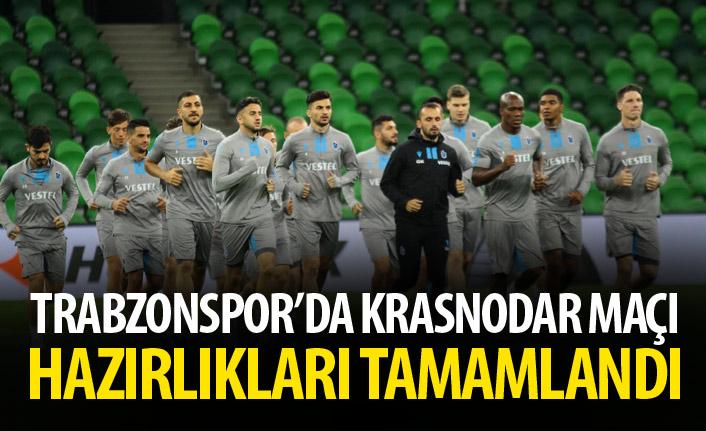 Trabzonspor'da Krasnodar maçı hazırlıkları tamamlandı