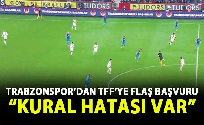 Trabzonspor TFF'ye başvurdu! Kural hatası var!