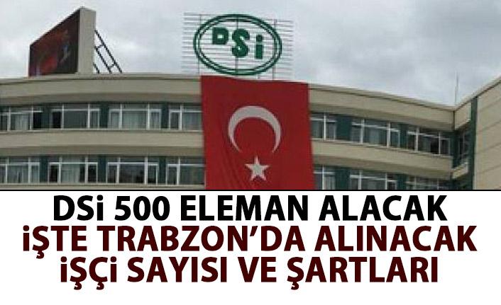Devlet su işleri 500 personel alacak! İşte Trabzon'da açılan kontenjan!