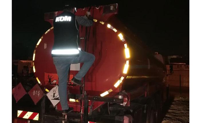 18 bin litre kaçak akaryakıt ele geçildi