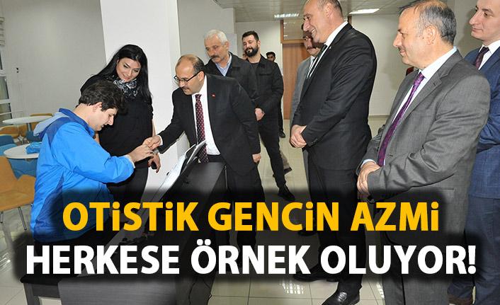 Trabzon'da otistik gencin örnek olacak azmi!