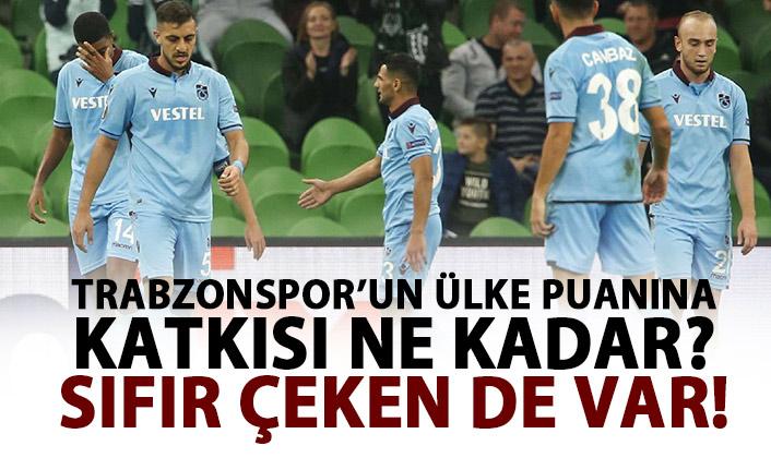 Trabzonspor ülke puanına ne kadar katkı yaptı!