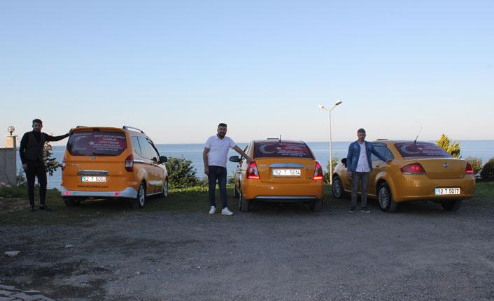 Taksicilerden örnek davranış
