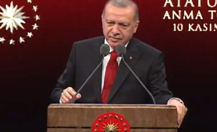 Erdoğan 10 Kasım töreninde konuştu