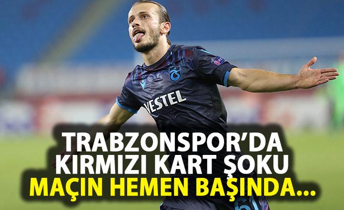 Trabzonspor'a kırmızı kart şoku!