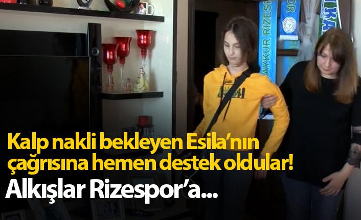 Kalp nakli bekleyen Esila'ya Rizespor'dan destek