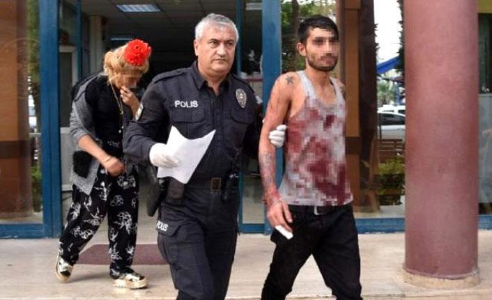 Sevgilisini taciz ettiğini öne sürdüğü kişiyi döner bıçağıyla ağır yaraladı