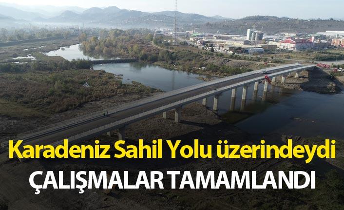 Karadeniz Sahil yolu üzerindeki köprüde çalışmalar tamamlandı