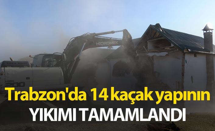 Trabzon'da 14 kaçak yapının yıkımı tamamlandı