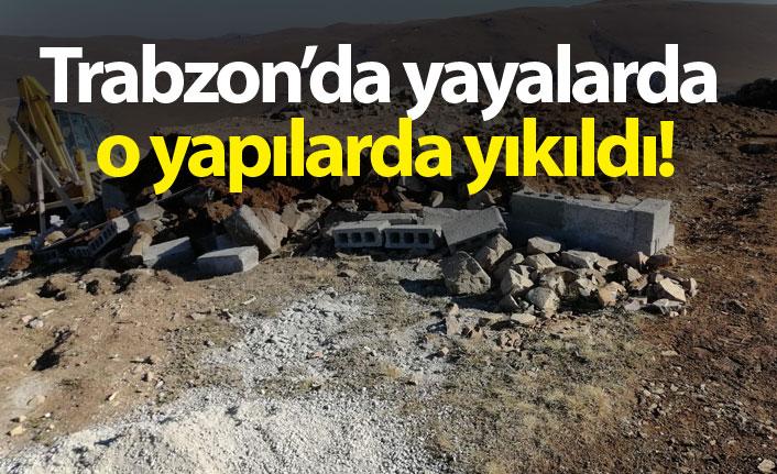 Trabzon'da yayalarda o yapılar da yıkıldı!