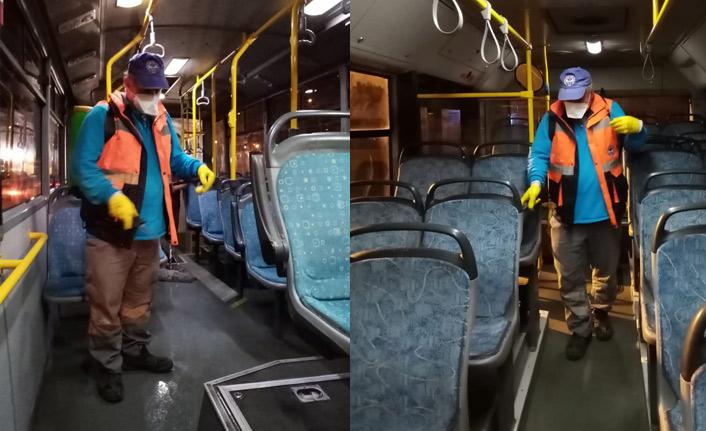 Zorluoğlu talimatı verdi, otobüsler dezenfekte ediliyor