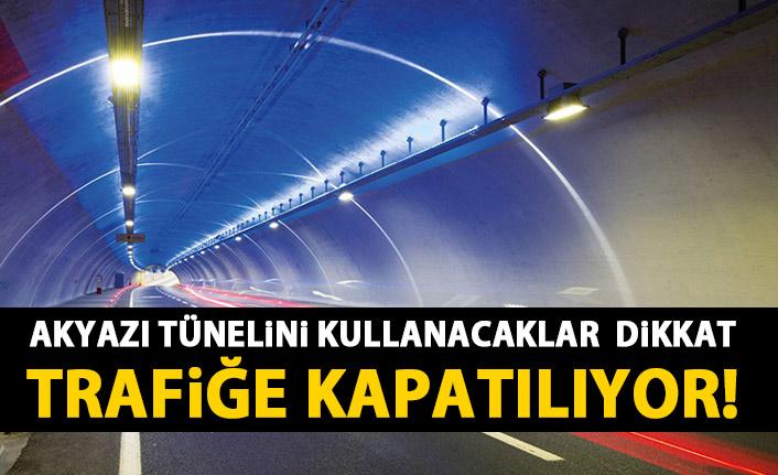 Trabzon'da Akyazı Tüneli trafiğe kapatılıyor!