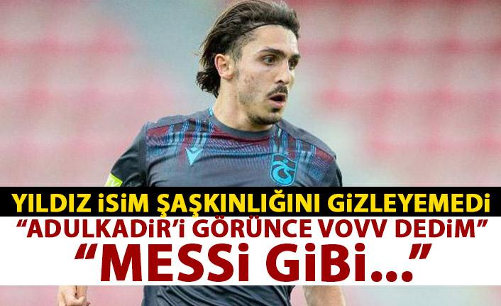 Yıldız futbolcu şaşkınlığı gizleyemedi: Abdulkadir Ömür'ü görünce VOV dedim!