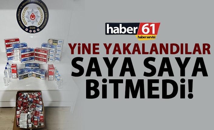 Yine Trabzon'da yakalandılar! Saya saya bitmedi!