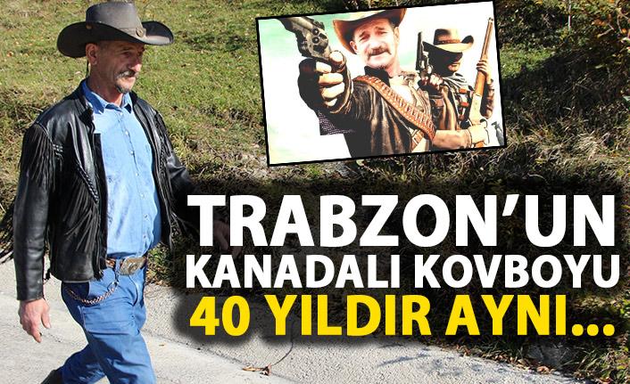 Trabzon'un Kanadalı Kovboyu! 40 yıldır aynı elbise!