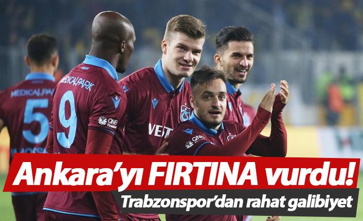 Trabzonspor Ankaragücü'nü rahat geçti