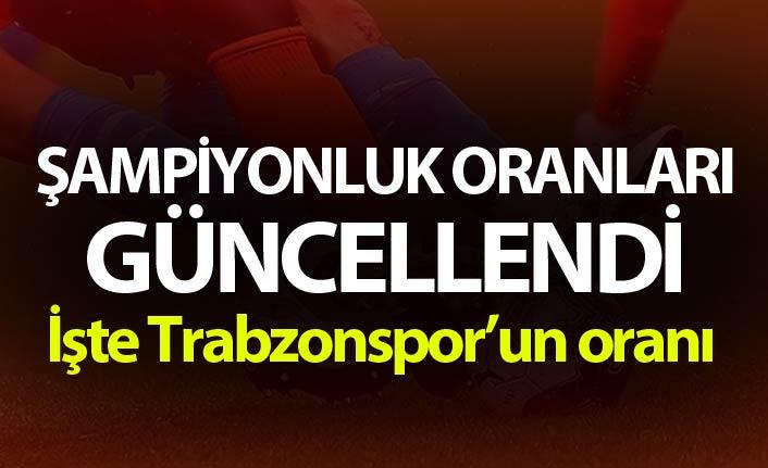 Şampiyonluk oranları güncellendi! İşte Trabzonspor'un oranı
