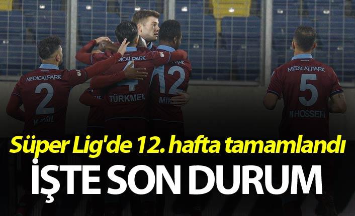 Süper Lig'de 12. hafta tamamlandı
