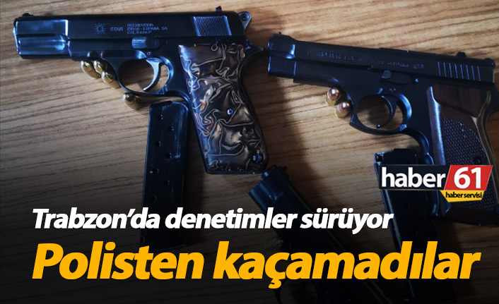 Trabzon'da polis denetimleri sürüyor