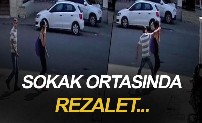 Sokak ortasında rezalet! Genç kız neye uğradığını şaşırdı