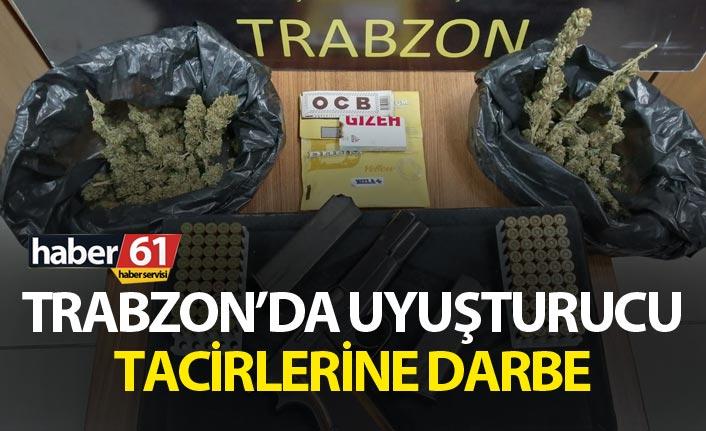 Trabzon'da uyuşturucu tacirlerine darbe