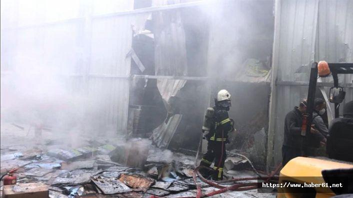 Fatsa OSB'de fabrikada yangın