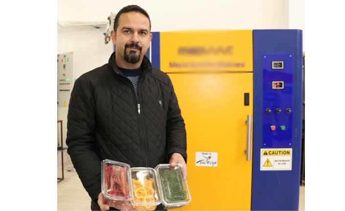 Meyve ve sebze kurutma makinesi yapıldı