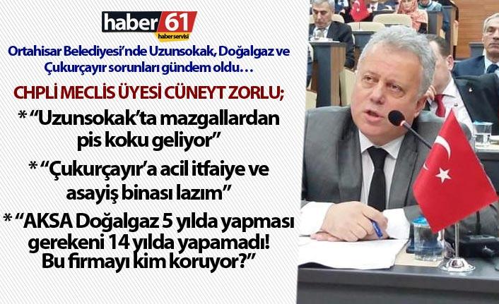 Ortahisar Belediyesi'nde Uzunsokak, Doğalgaz ve Çukurçayır sorunları gündem oldu..