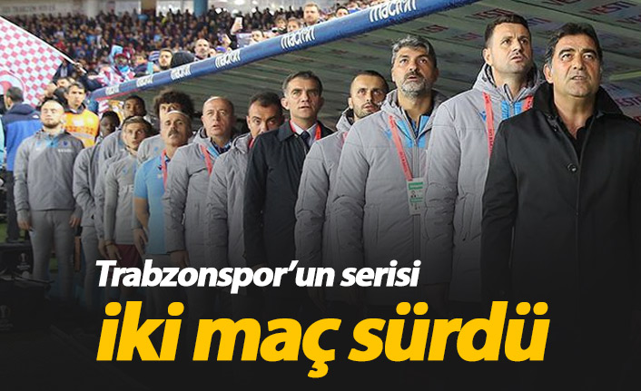 Trabzonspor'un gol yememe serisi bitti