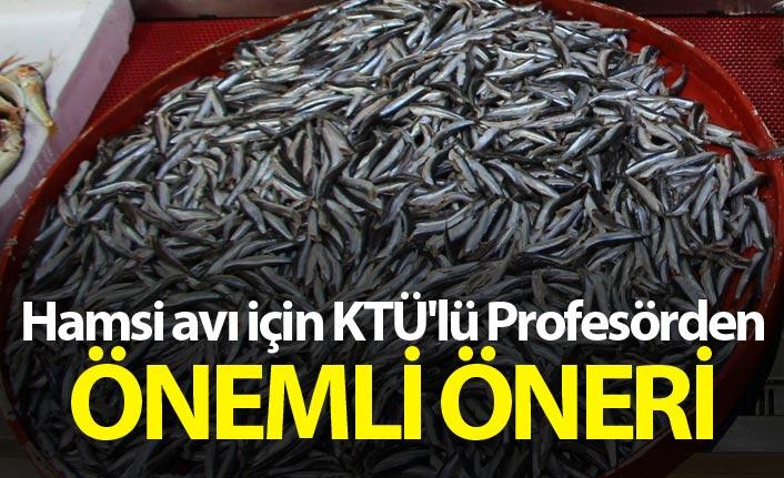 Hamsi avı için KTÜ'lü Profesörden önemli öneri