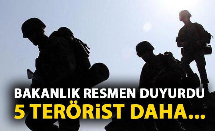 Resmen duyuruldu! 5 terörist daha teslim oldu