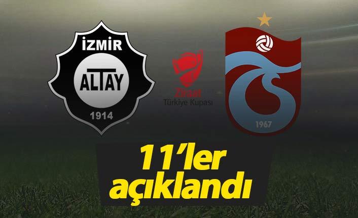 Trabzonspor'un Altay 11'i açıklandı