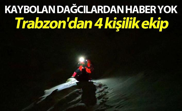Uludağ'da kaybolan dağcılardan haber yok - Trabzon'dan 4 kişilik ekip