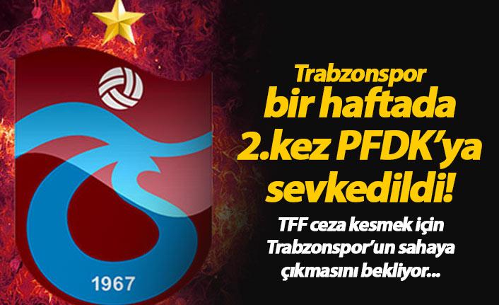 Trabzonspor bir hafta da 2. kez PFDK'lık!