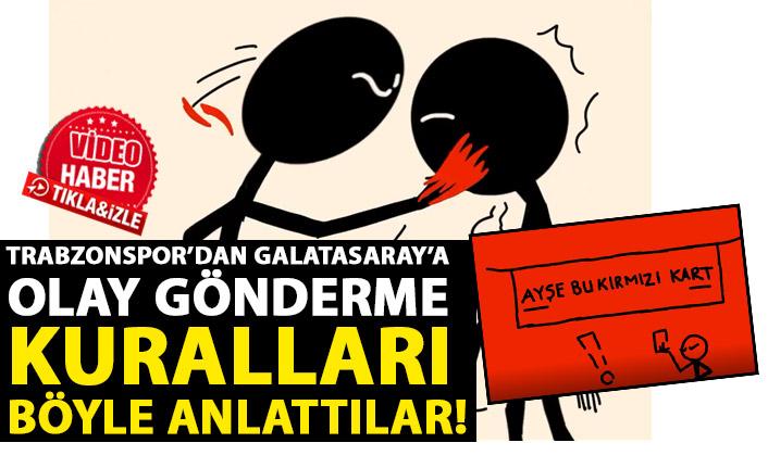 Trabzonspor'dan Galatasaray'a olay gönderme: Ayşe bu kırmızı kart!