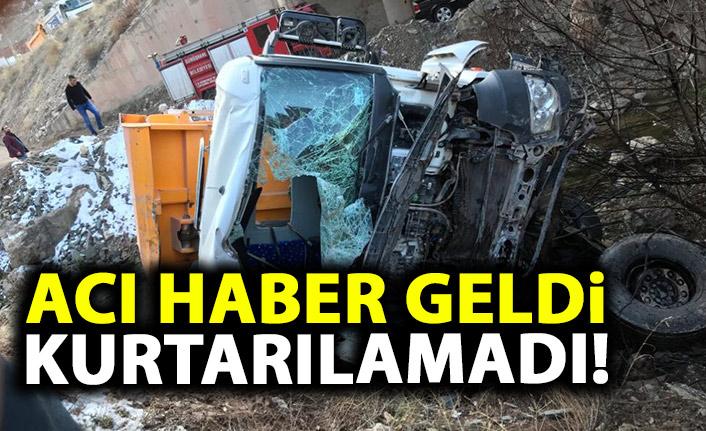 Harfiyat kamyonu köprüden uçtu! 1 kişi öldü