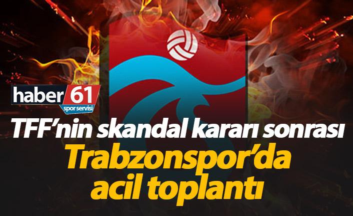 Trabzonspor TFF'nin kararını değerlendiriyor